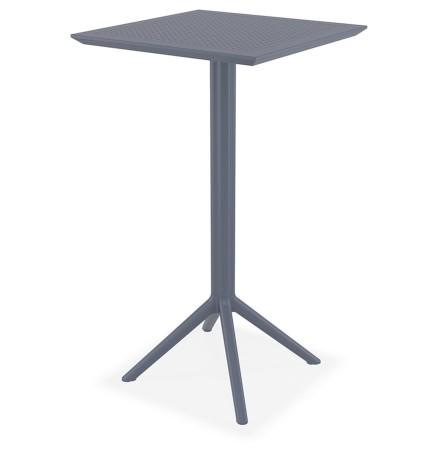 Table haute pliable 'FOLY BAR' gris foncé pour intérieur et extérieur