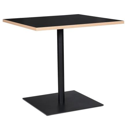 Table carrée 'FUSION SQUARE' noire - 80x80 cm