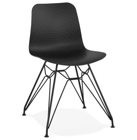 Chaise design 'GAUDY' noire style industriel