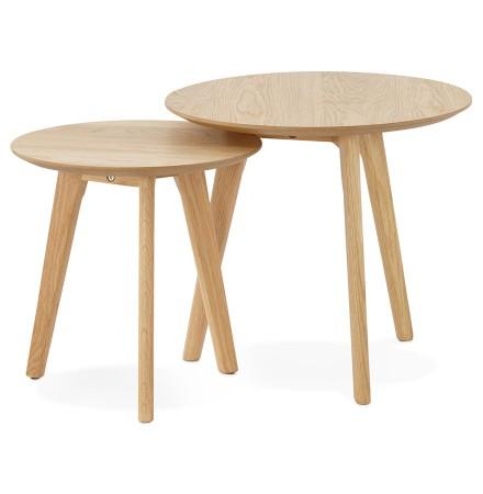 Tables gigognes ronde GABY en bois naturel - Alterego