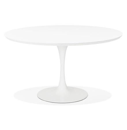 Table à dîner / de bureau ronde design 'GLOBO' blanche - Ø120 cm