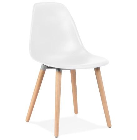 Chaise design scandinave 'GLORIA' blanche