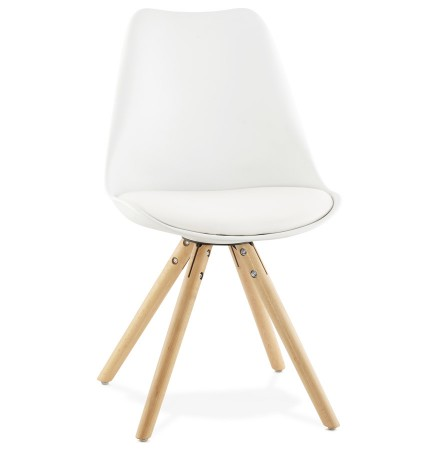 Chaise scandinave 'GOUJA' blanche
