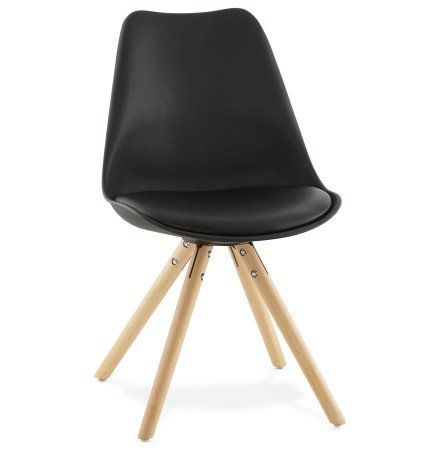 Chaise scandinave GOUJA noire - Alterego