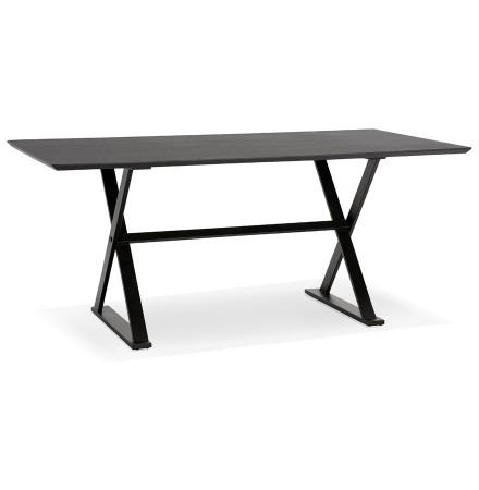 Table à diner / bureau design HAVANA en bois noir - 180x90 cm - Alterego