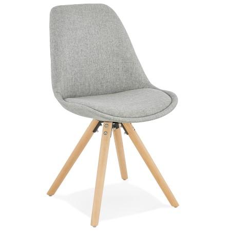 Chaise scandinave 'HIPHOP' en tissu gris