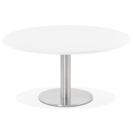 Table basse lounge HOUSTON blanche - Ø 90 cm