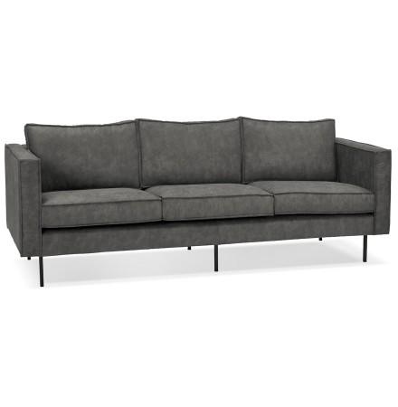 Canapé droit design 'JANE' gris - canapé 3 places