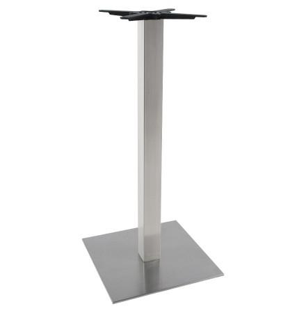 Pied de table 'KARO' 110 en acier brossé