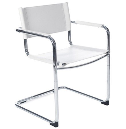 Chaise d'accueil / visiteur 'KA' blanche pour bureau ou salle de réunion