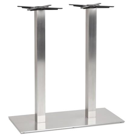 Pied de table 'KARO DOUBLE' 100 en acier brossé