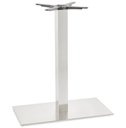 Pied de table 'KARO XL' 90 en acier brossé
