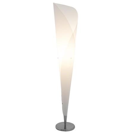 Lampadaire design 'KONE' en forme de cône blanc
