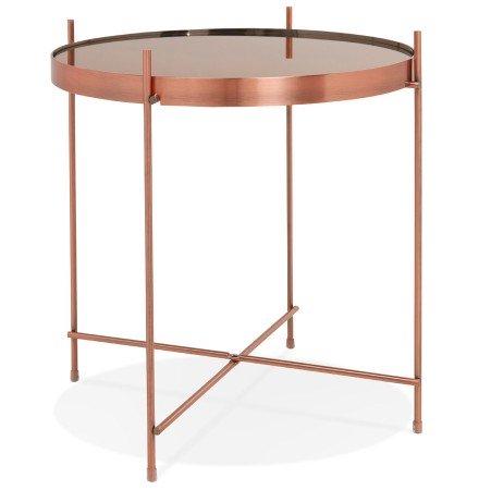 Table d'appoint pliable KOLOS couleur cuivre - Alterego