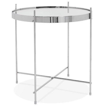 Table d'appoint pliable KOLOS couleur chrome - Alterego