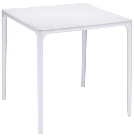 Table à dîner carrée 'KUIK' design grise - 72x72 cm