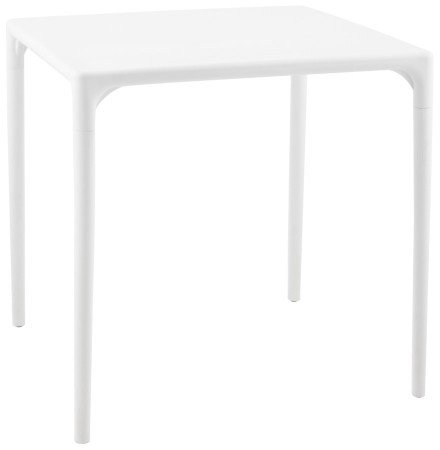 Table à dîner carrée 'KUIK' design blanche - 72x72 cm