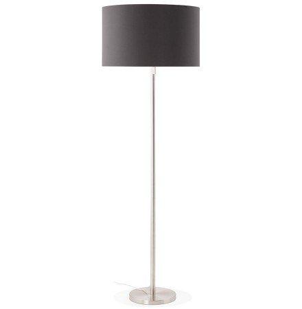 Lampadaire design 'LIVING BIG' noir réglable en hauteur