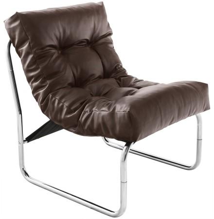 Fauteuil lounge 'LOFT' brun