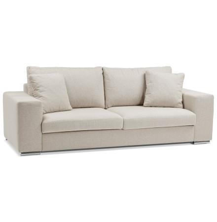 Canapé droit moderne 'LUCA' en tissu beige