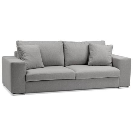 Canapé droit moderne 'LUCA' en tissu gris clair
