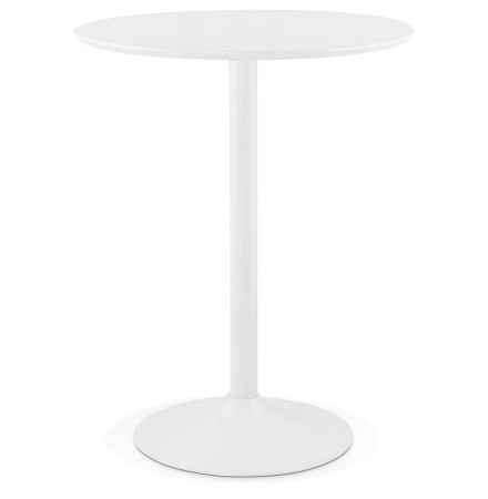 Mange-debout / table haute 'MADISON' blanche - Ø 90 cm