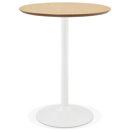 Mange-debout / table haute 'MADISON' en bois finition naturelle - Ø 90 cm