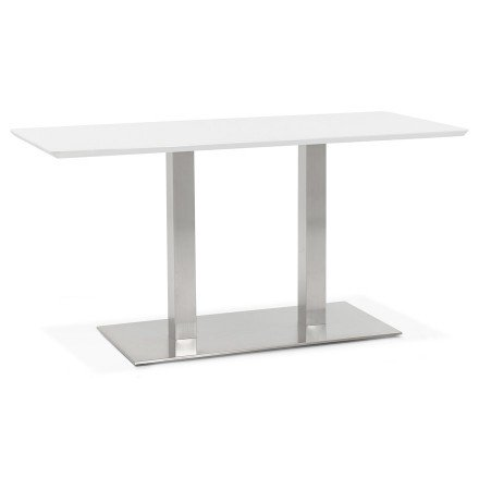 Table / bureau design 'MAMBO' blanc - 150x70 cm