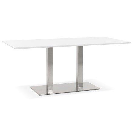 Table / bureau design 'MAMBO' blanc - 180x90 cm