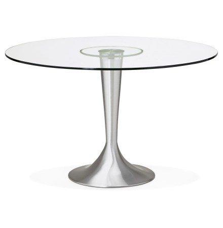 Table à dîner ronde moderne MASKARA en verre - Photo 1