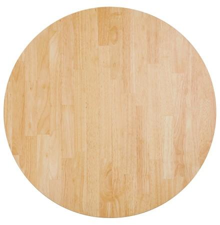 Plateau de table 'MASSIVO' rond en bois massif - Ø 70 cm