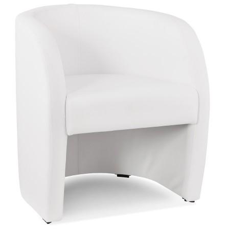 Fauteuil de salon 1 place MAX en matière synthétique blanche - Alterego