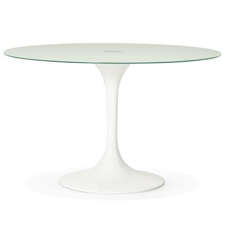 Table a diner design ronde ALEXIA blanche - Alterego