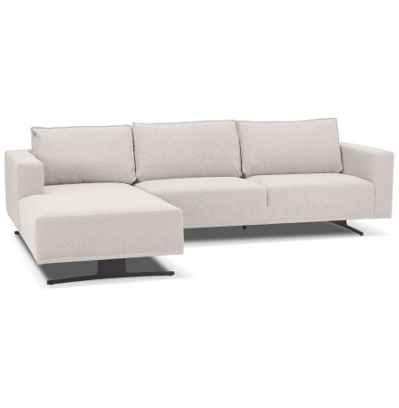Petit canapé d'angle 'MOZART L SHAPE' beige (angle à gauche)
