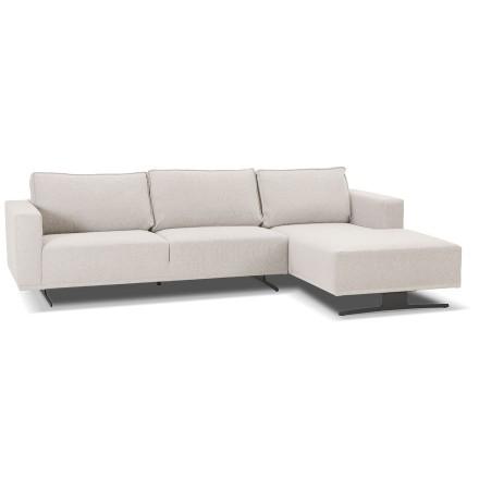 Petit canapé d'angle 'MOZART L SHAPE' beige (angle à droite)