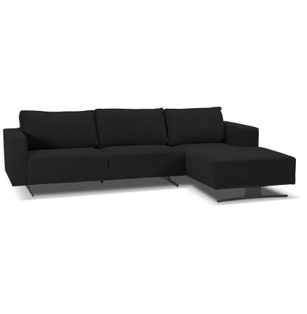 Petit canapé d'angle 'MOZART L SHAPE' noir (angle à droite)