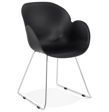 Chaise design NEGO noire en matiere plastique - Alterego