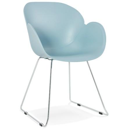 Chaise design 'NEGO' bleue en matière plastique