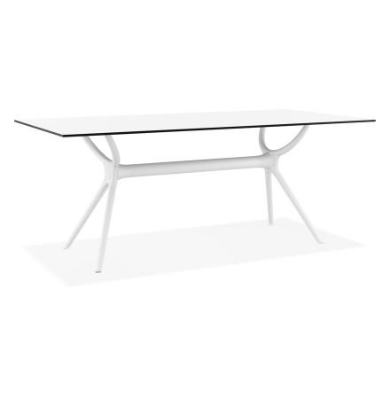 Table interieur/exterieur 'OCEAN' design en matière plastique blanche - 180x90 cm