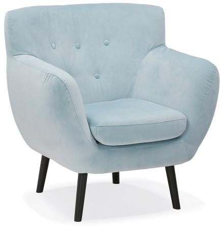 Fauteuil de salon 1 place 'OPERA MINI' en velours bleu clair