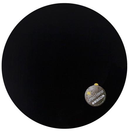 Plateau de table 'PLANO' rond Ø 68cm noir en résine compressée