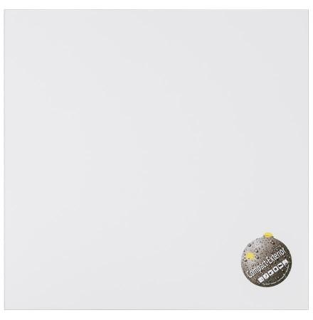 Plateau de table 'PLANO' carré 60x60cm blanc en résine compressée