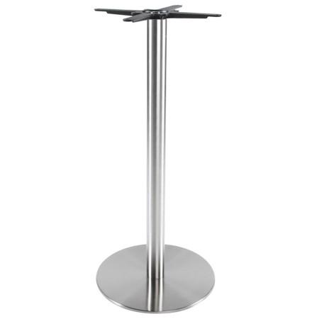 Pied de table 'PLATO' 110 en acier brossé avec base ronde