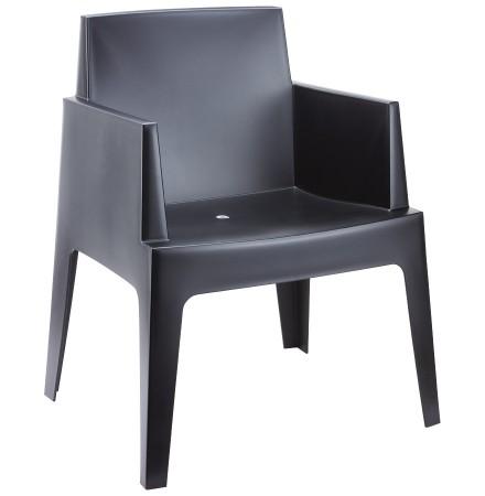 Chaise design 'PLEMO' noire en matière plastique