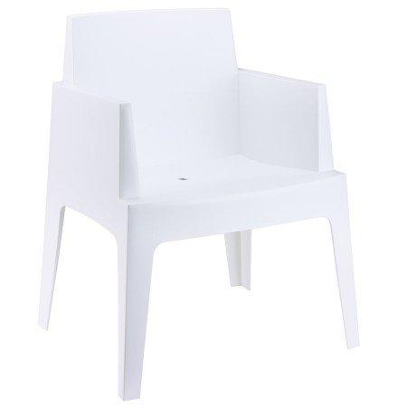 Chaise design 'PLEMO' blanche en matière plastique