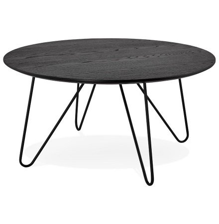 Table basse design PLUTO noire style industriel - Alterego