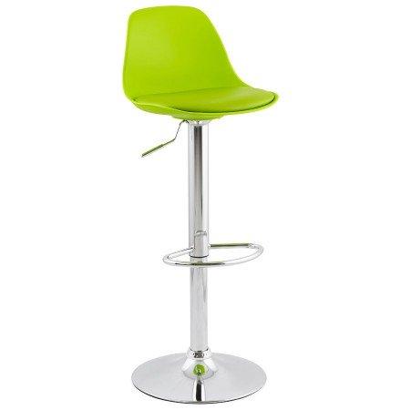 Tabouret réglable PRINCES vert avec haut dossier confortable - Alterego