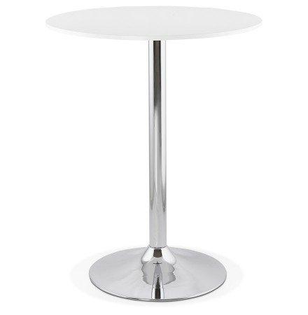 Mange-debout / table haute 'SANTIAGO' blanche - Ø 90 cm