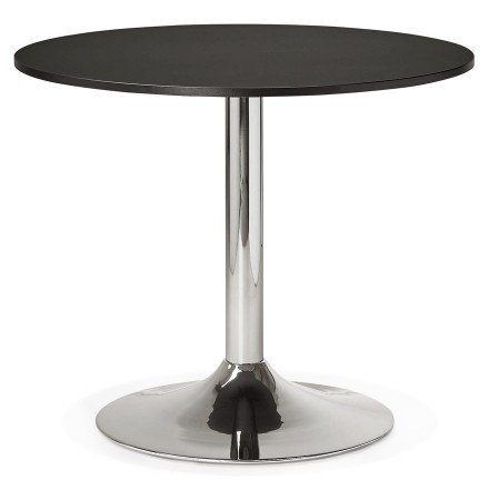 Petite table de bureau/à diner ronde SAOPOLO noire - Photo 1