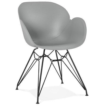 Chaise design 'SATELIT' grise style industriel